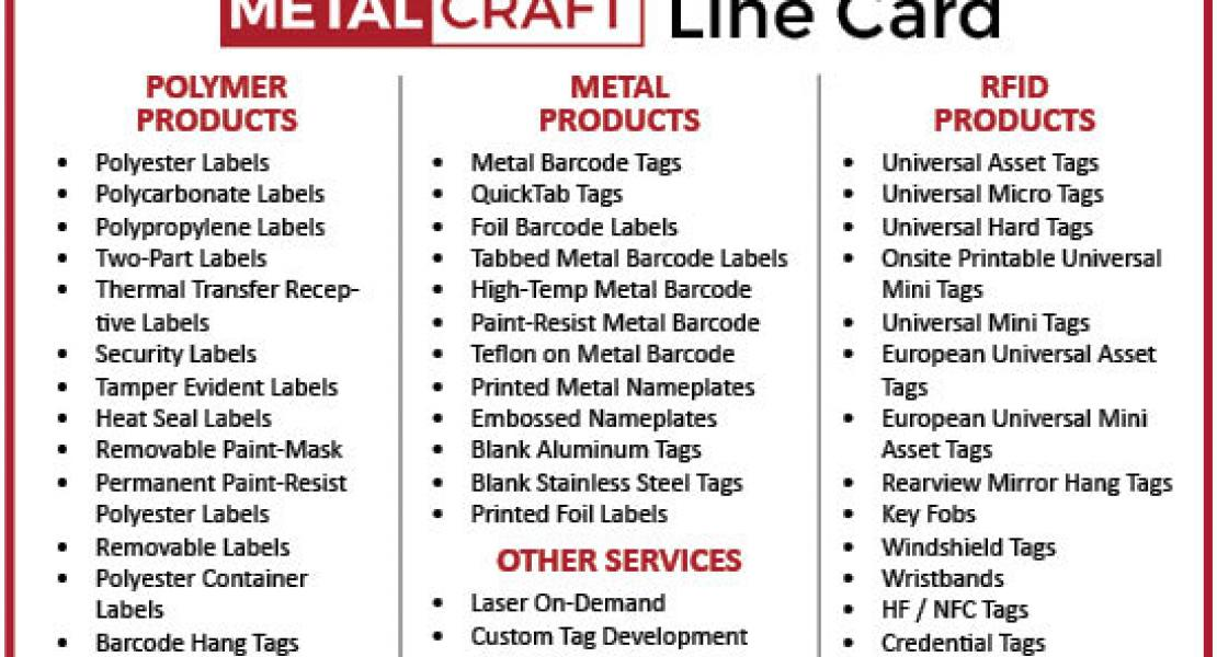 Metalcraft business line card