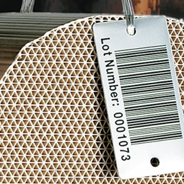 High temperature metal tags