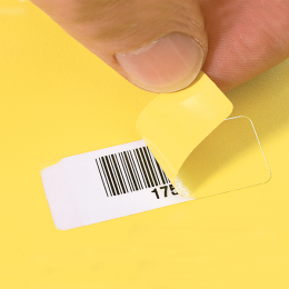 Removable paint mask polymer label
