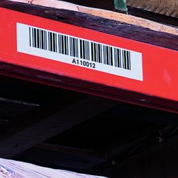 Long-range bar code label