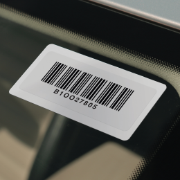 On-site printable RFID windshield tag