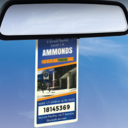 RFID parking permit hang tag